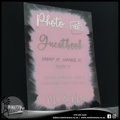 Acrylic Photobooth Sign Painted and Chrome Vinyl 200068 1