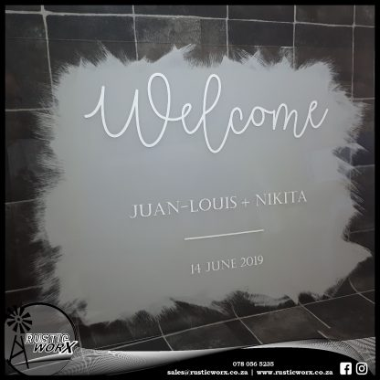 Acrylic Welcome Sign Painted 190161