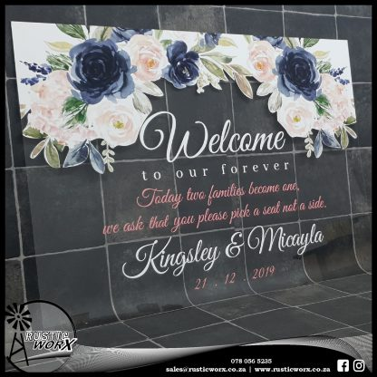Acrylic Welcome Sign With Vinyl 190539