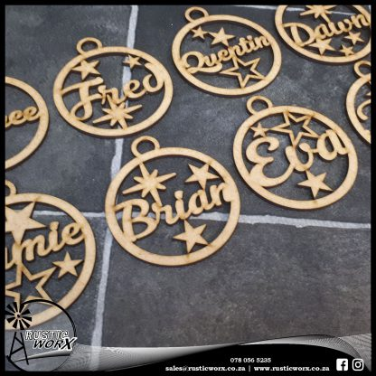 Christmas Baubles Yellow MDF