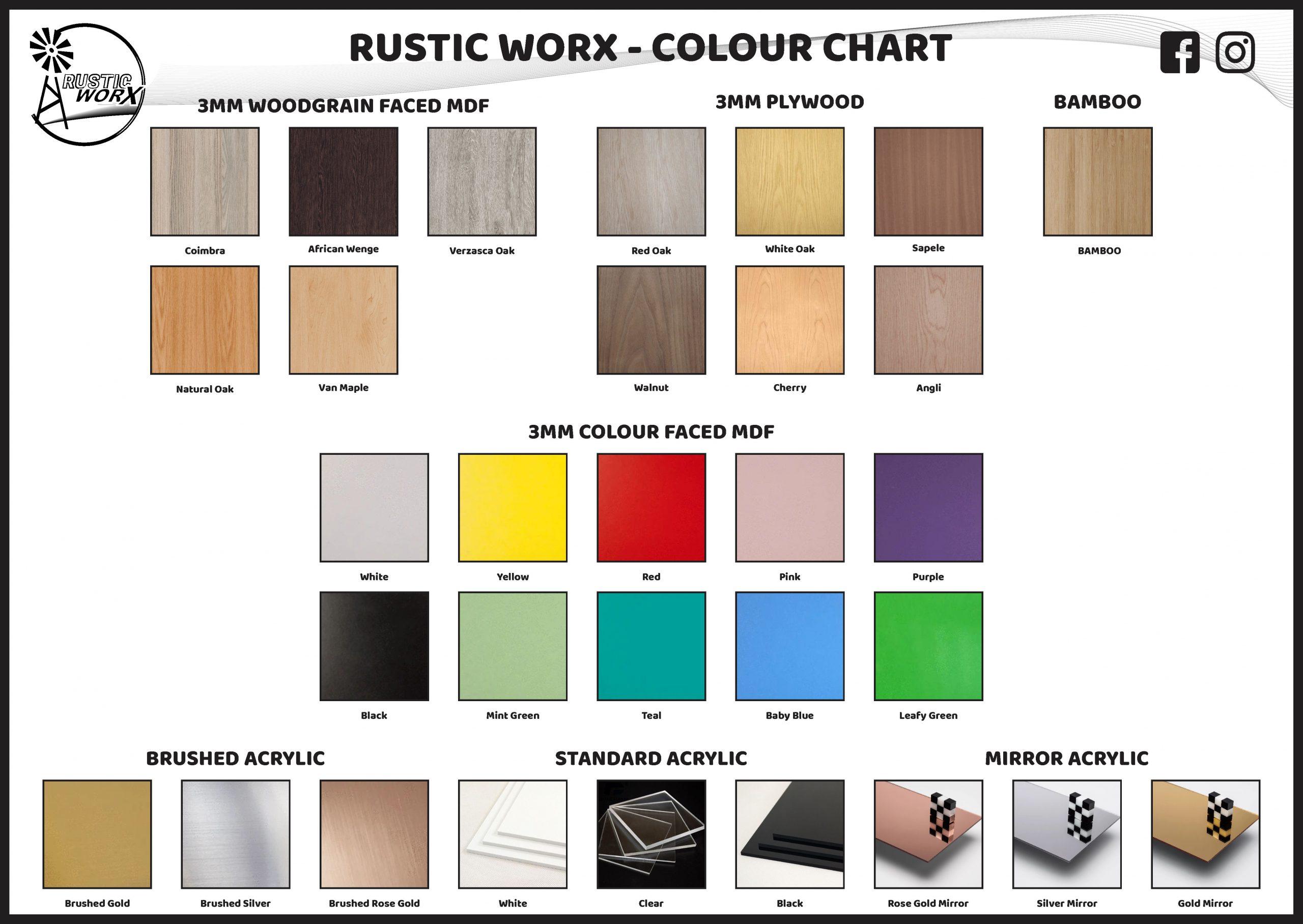 Colour Chart 2020