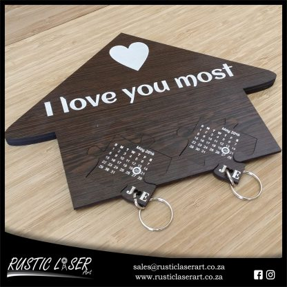 Key Holder Puzzle Insert