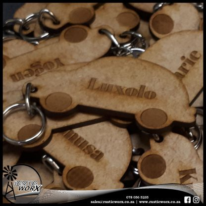 Keyrings MDF Car 180519