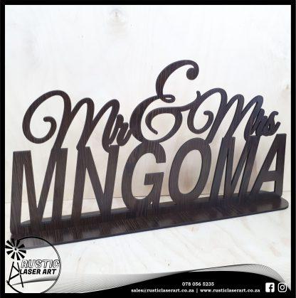 Mr Mrs Sign African Wenge180145