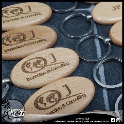Oval Wooden Keyrings 190439