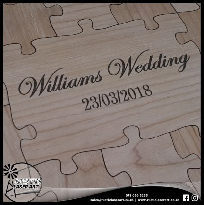 Puzzle Guest Book 572 Cherry Ply