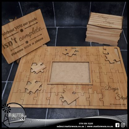 Puzzle w Frame Red Oak 180365