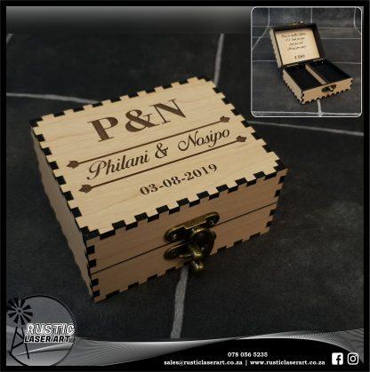 Rectangular Ring Box 190269 Van Maple