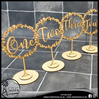 Table Numbers MDF 190187