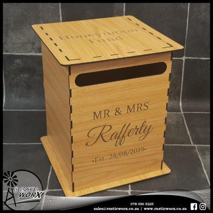 Wedding Mail Box Type 1 Nat Oak 190190