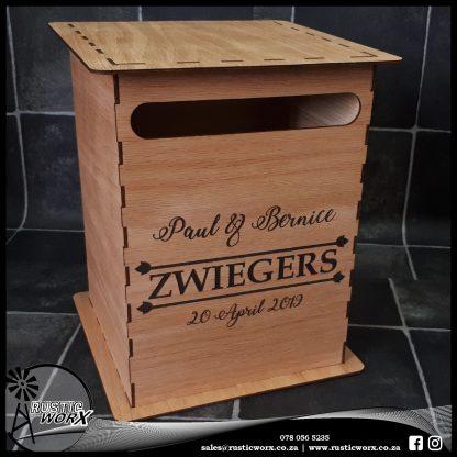 Wedding Mail Box Type 1 Red Oak 190126
