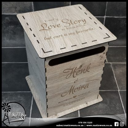 Wedding Mail Box Type 1 Verzasca Oak 1190267