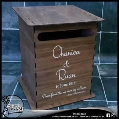 Wedding Mail Box Type 1 Walnut 190063