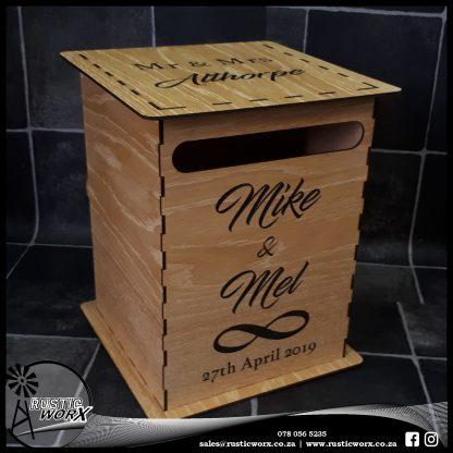 Wedding Mail Box Type 1 White Oak 2100