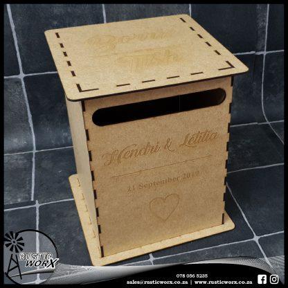 Wedding Mail Box Type 1 Yellow MDF 190377