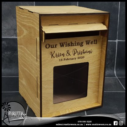 Wedding Mail Box Type 2 White Oak 12437