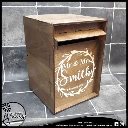 Wedding Mail Box Walnut Type 2 180473 2