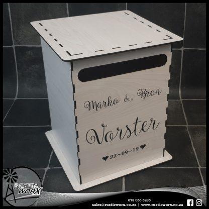 Wedding Mail box Type 1 White MDF 2474