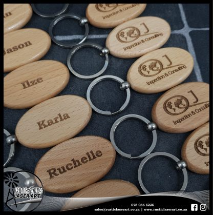 Wooden Oval Keyrings 190439