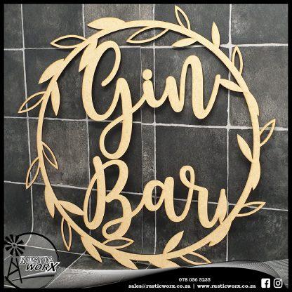 Wreath MDF Gin Bar 190198