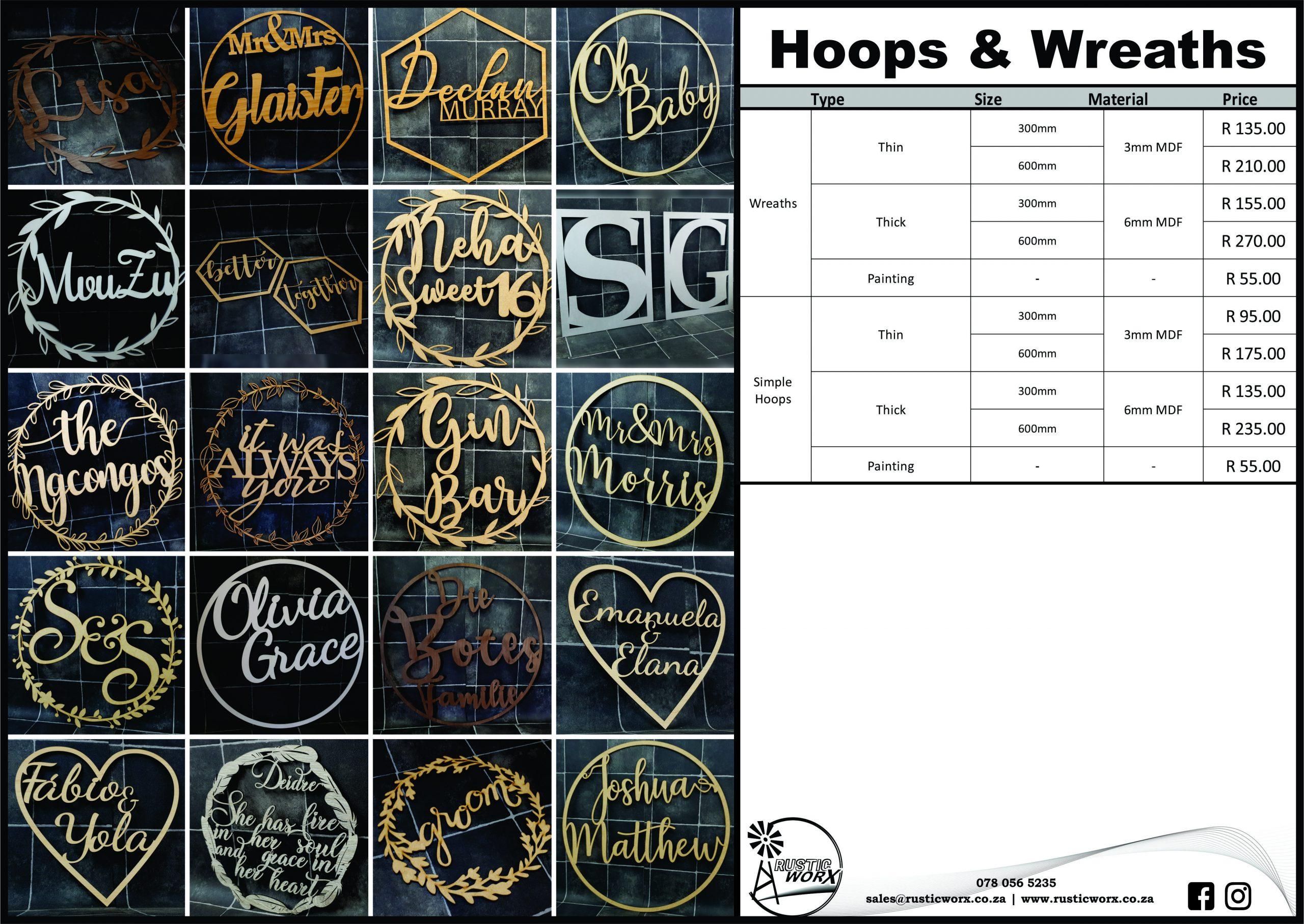 17 Hoops Wreaths