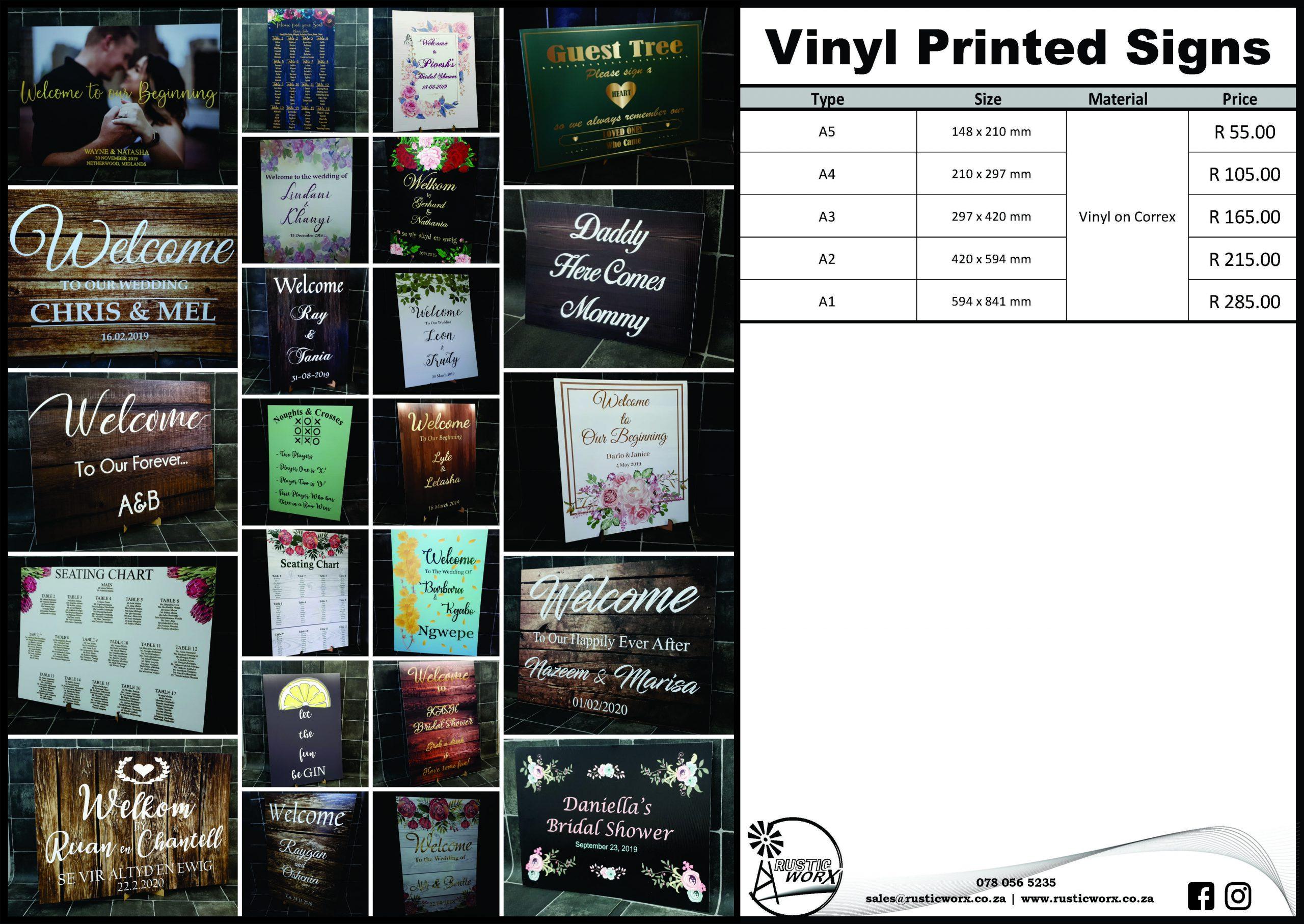 19.3 Signs Printed