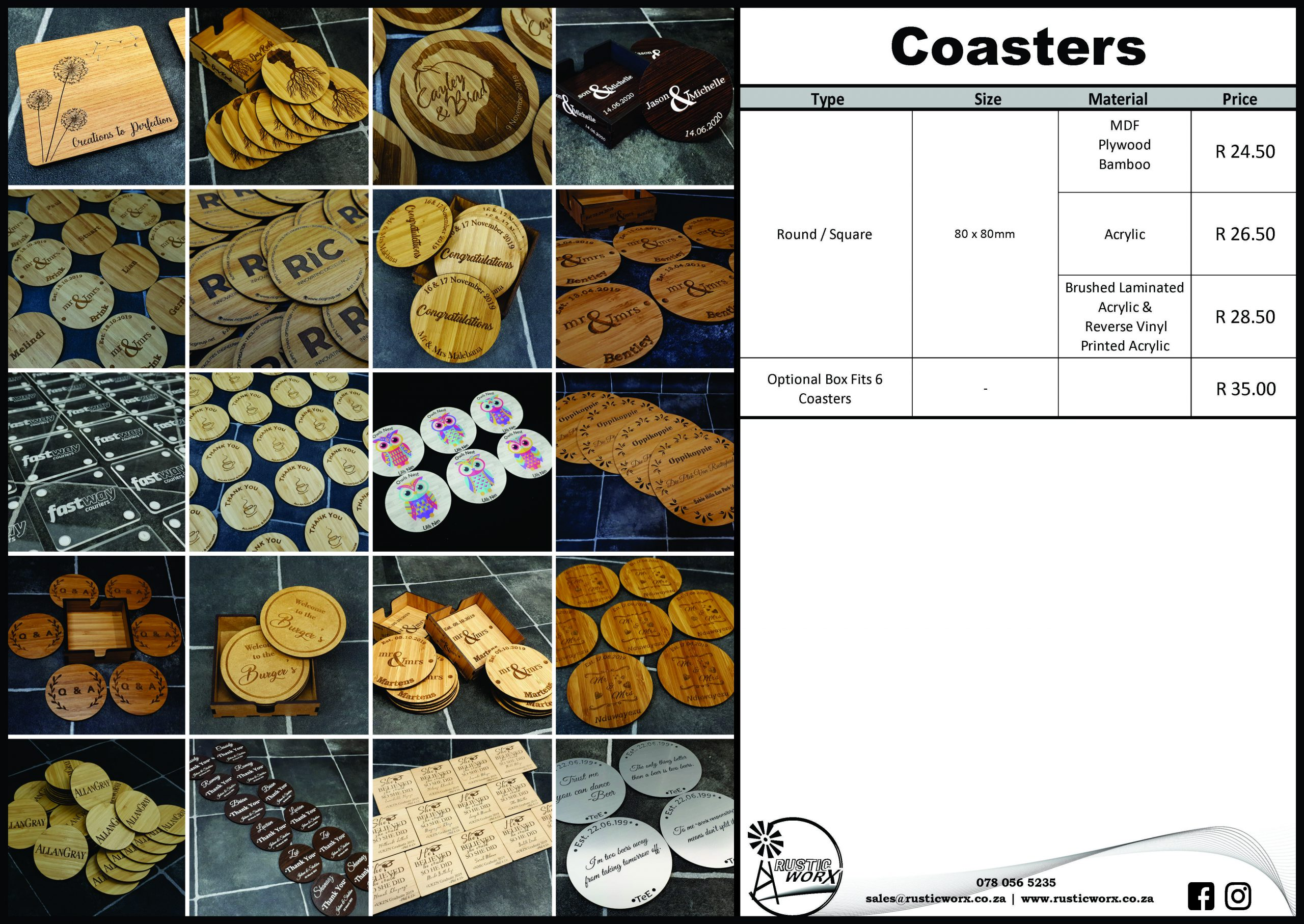 3 Coasters