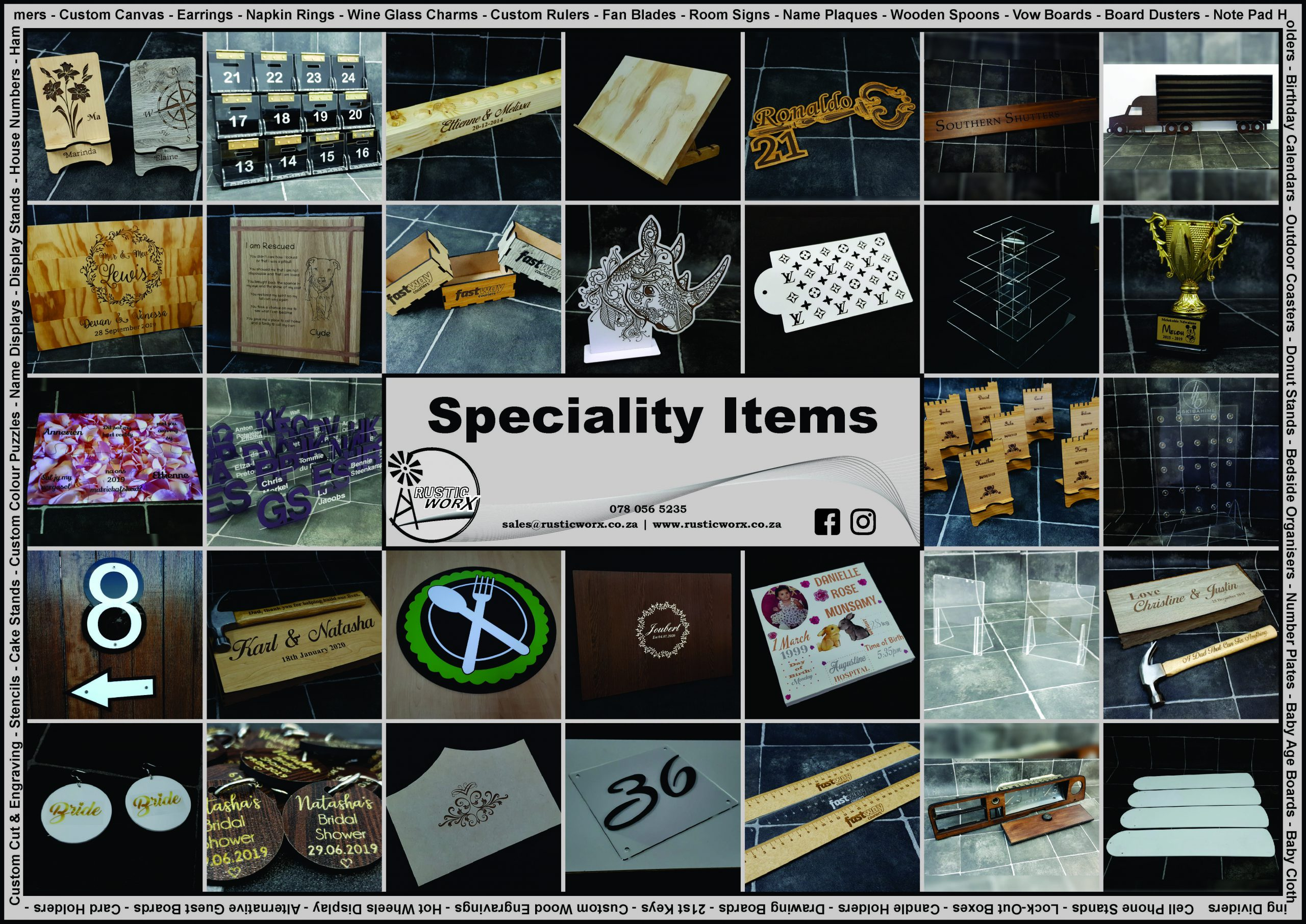 70 Speciality Items 1