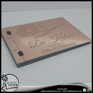 Guest Book Rose Gold Acrylic 200035