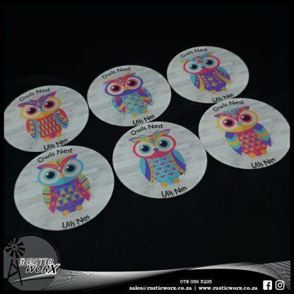 Reverse Printed Acrylic Coasters