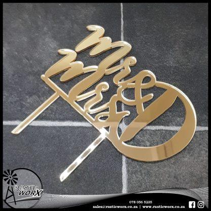 Cake Topper Gold Acrylic 180529
