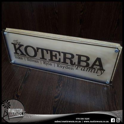 Family Sign Koterba