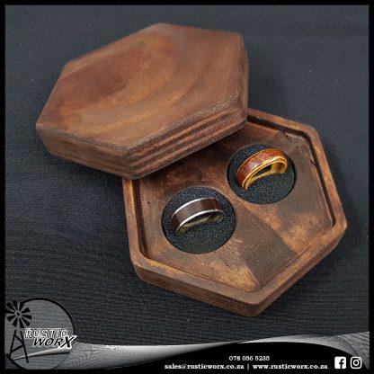 Hardwood Wedding Ring Box Hexagon 2