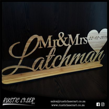 Mr Mrs Sign Bamboo 1200 1