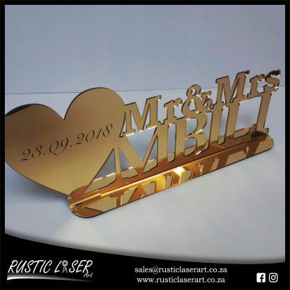 Mr Mrs Sign Gold Mirror 180328 4