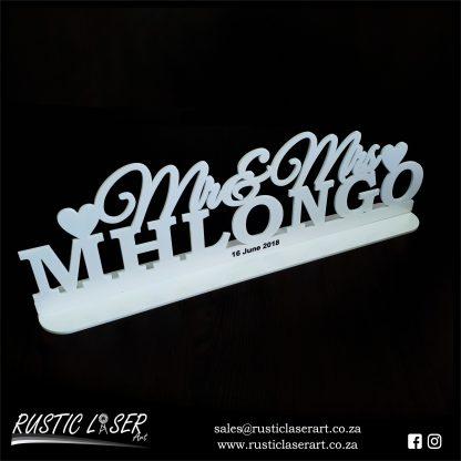 MrMrs 180020 White Acrylic 5