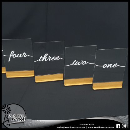 Table Numbers A5 Clear Acrylic Vinyl 13238