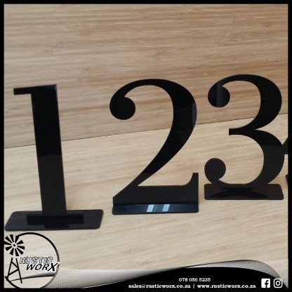 Table Numbers Black Acrylic 282
