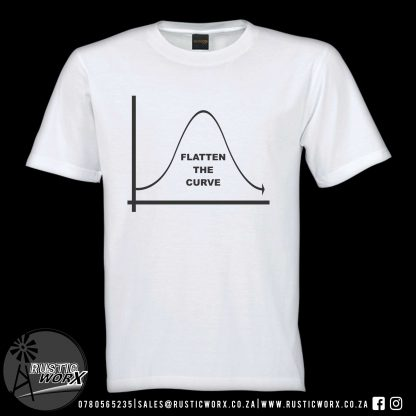 T Shirts Flatten Curve2 Colour White