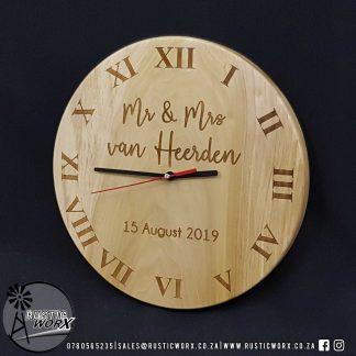 Clock 30cm Diameter Hardwood